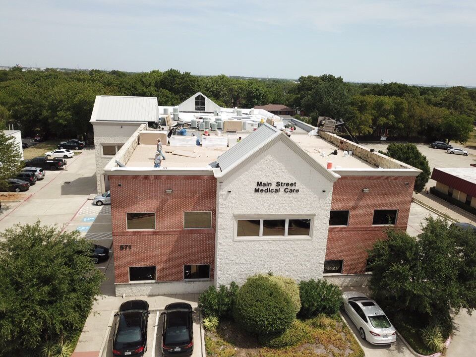 commercial roof on medical office building